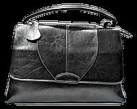 Интересная женская сумка из натуральной кожи черного цвета FFJ-004467