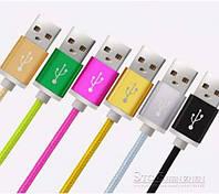 Кабель (шнур) USB-microUSB тканевый (150 см)