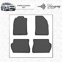 Коврики резиновые в салон Ford Fusion с 2002 (4шт) Stingray