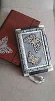 "Блокнот handmade ""Эффект бабочки"" с чехлом, фото 1"