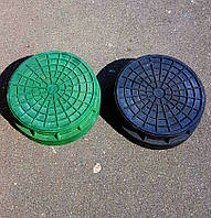 Крышка колодца, круглый, зеленый