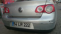 Volkswagen Passat B6 2006-2012 гг. Кромка багажника (нерж) OmsaLine - Итальянская нержавейка