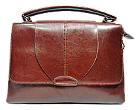 Интересная женская сумка из натуральной кожи коричневого цвета FFJ-004469