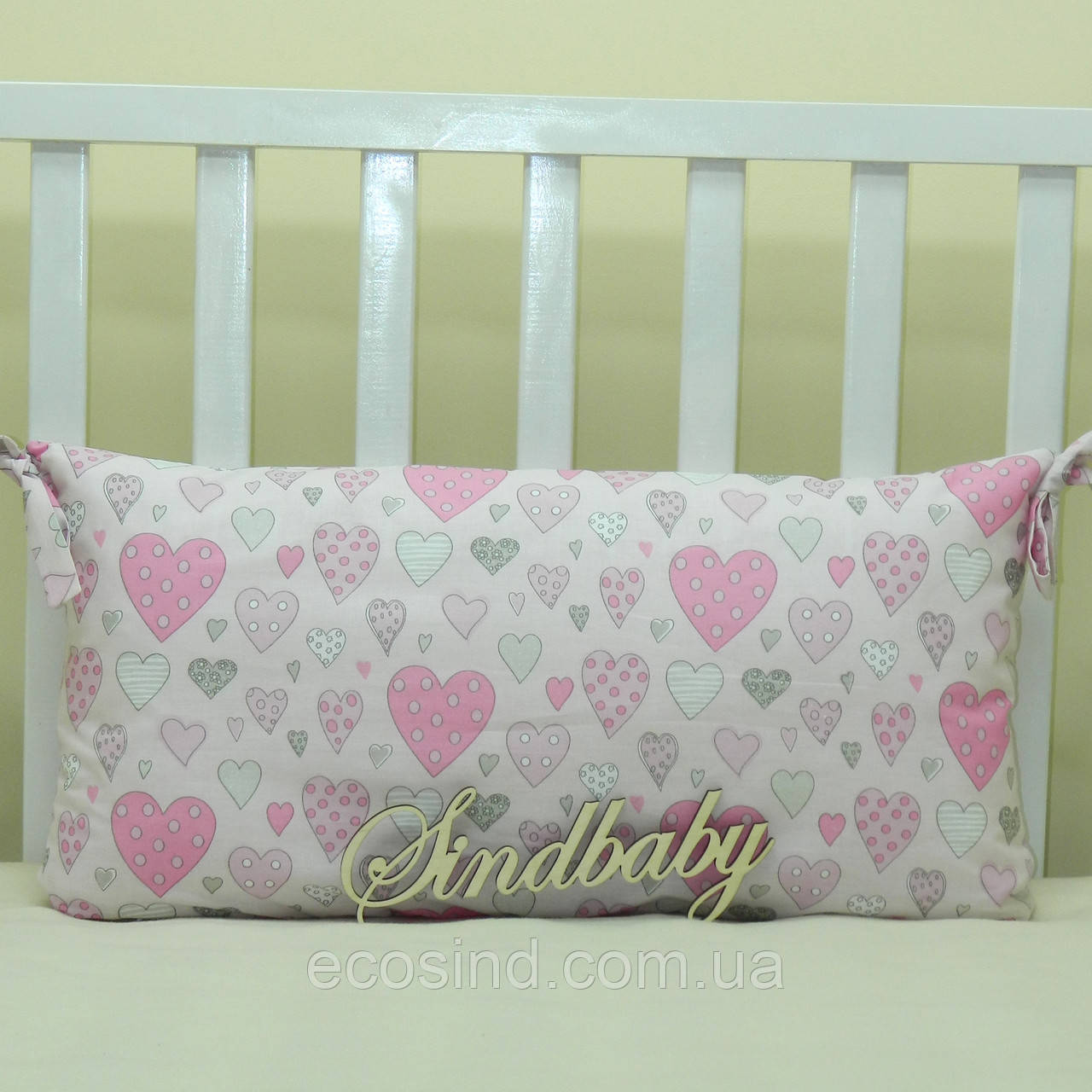 Бортики подушки в кроватку, Подушка 30х60 -19