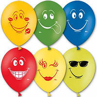 Воздушные шары латексные Улыбки пастель ассорти 10' 26 см