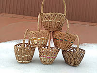 Плетеные детские корзины из лозы