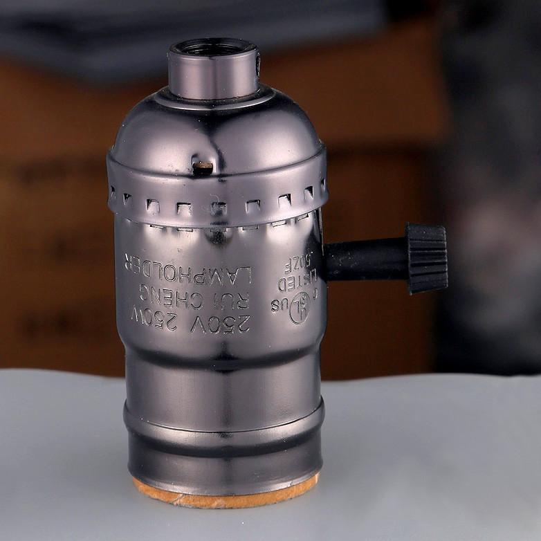 AMP патрон 34 pearl black  E-27 ( в сборе )
