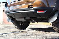 Накладка заднего бампера Renault Duster 2010+ черный шегрень. толщина 4мм
