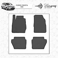 Коврики резиновые в салон Ford Fiesta c 2009 (4шт) Stingray