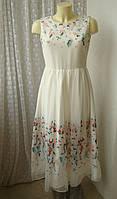 Платье красивое с вышивкой Mint&Berry р.44 7434