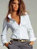 Деловое женское боди рубашка с длинными рукавами