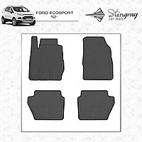 Коврики резиновые в салон EcoSport c 2012 (4шт) Stingray