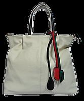 Симпатичная женская сумка из экокожи белого цвета MMJ-872914