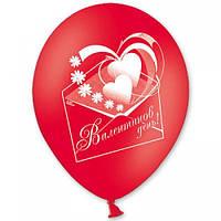 Шары воздушные латексные День валентина КРАСН. РОЗОВ. БЕЛЫЙ 12' 30 см
