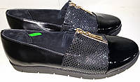 Туфли женские кожаные MEDIUM 1169 черная змея ВЕРОН