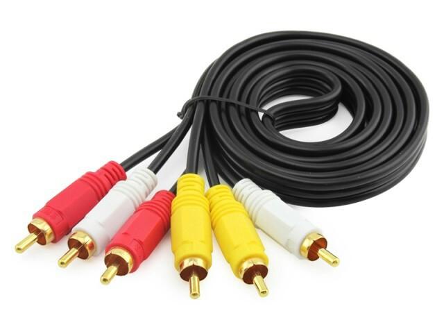 Кабель Audio-Video 3RCA > 3RCA, 3 тюльпана-(M) > 3 тюльпана (M) 1,5 м CA-1277.