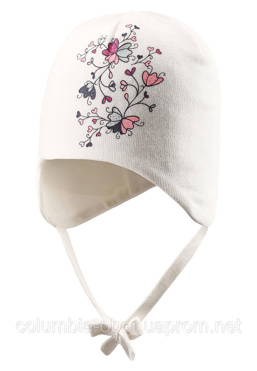 Хлопковая шапка для девочки Lassie 718710-0110. Размеры ХS и S .