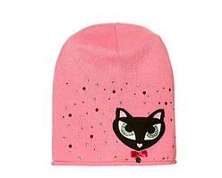 Детский комплект для девочки (шапка и снуд) Кошечка цвета в ассортименте