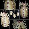 """Пасхальный декор """"Яйцо с кружевом"""" ручной работы, 12 см., 95/85 (цена за 1 шт. + 10 гр.)"""