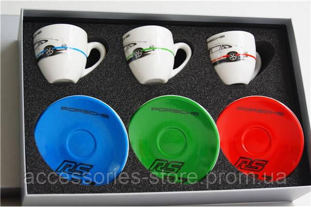 Набор из трех чашек для эспрессо Porsche Espresso cups, set of 3 – RS 2.7 Collection