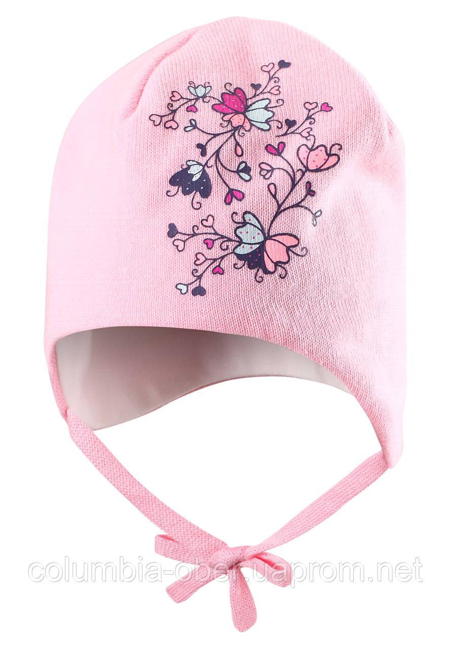 Хлопковая шапка для девочки Lassie 718710-4070. Размеры ХS - M .