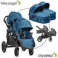 Детская универсальная коляска 2в1 для двойни Baby Jogger City Select Twin