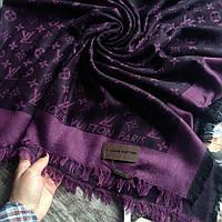 Палантин  Louis Vuitton черный женский шраф фиолетовый панантин
