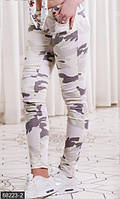 Молодежные облегающие женские джинсы со средней посадкой и камуфляжным принтом джинс Турция