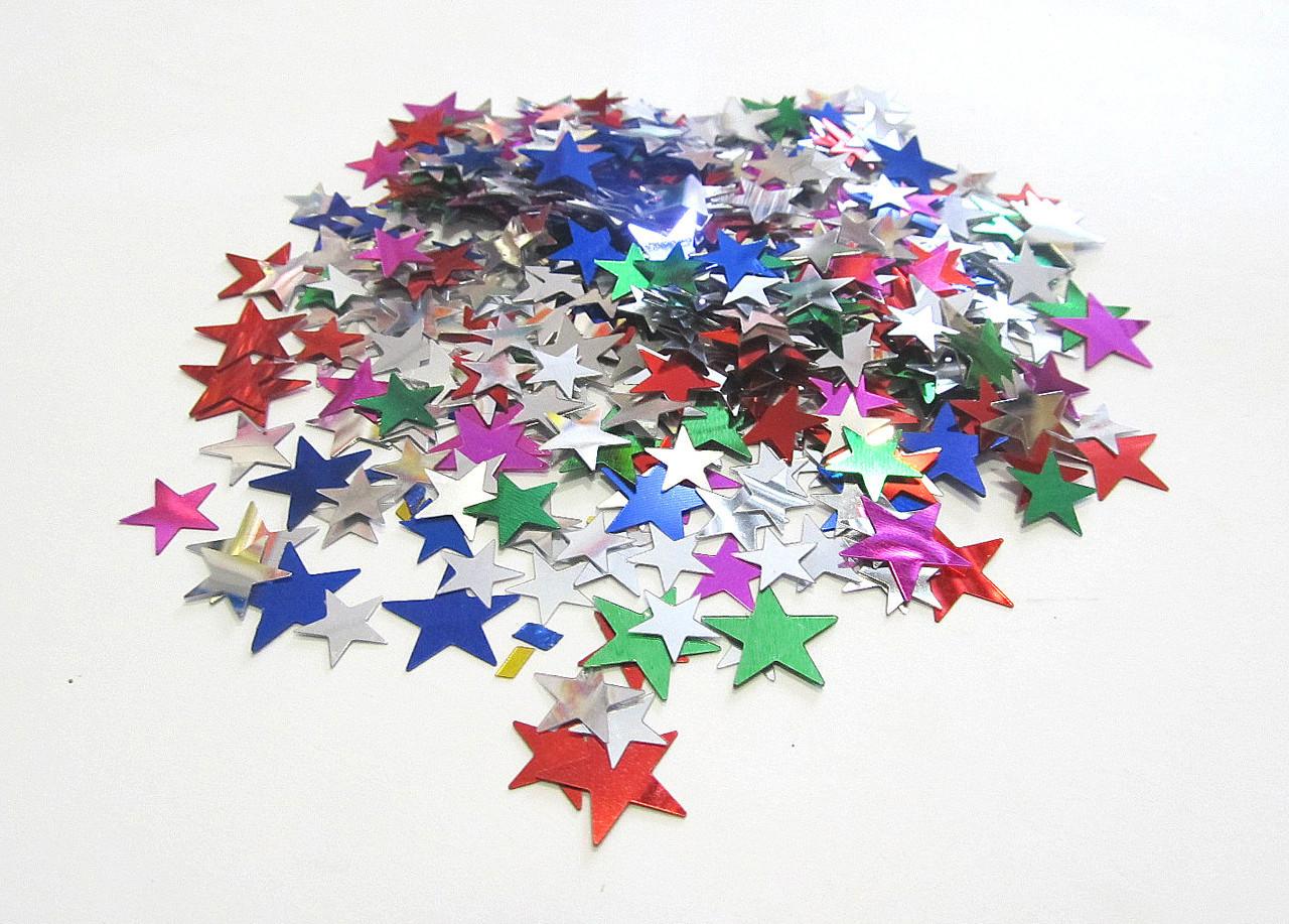Конфетти Звезды Ассорти, 1 см, 250 грамм