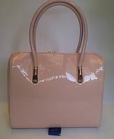 Оригинальная женская лаковая сумка YIRUI розового цвета