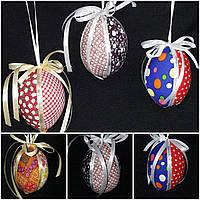 """Украшение для корзины """"Яйцо с  лентами"""",55/65, 9 см (разные цвета)(за 1 шт+10грн)"""