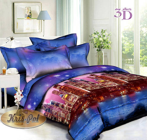 Комплект постельного белья евро 200*220 хлопок  (5074) TM KRISPOL Украина, фото 2