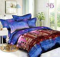 Комплект постельного белья евро 200*220 хлопок  (5074) TM KRISPOL Украина