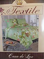 """Постельный набор """"Casa de Lux Textile"""",euro, 200х220, большие цветы, фото 1"""