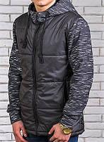 Куртка мужская с трикотажным рукавом меланж