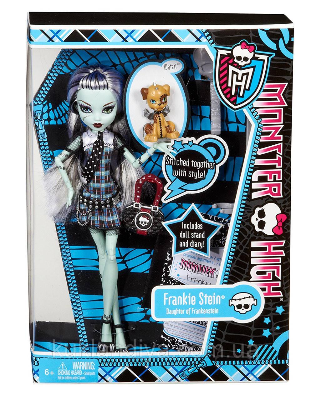 Кукла Monster High Френки Штейн базовая с питомцем