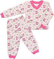 Пижама легкая для девочки Мишки на ферме, хлопок, кулир