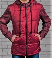 Куртка мужская с трикотажным рукавом бордо
