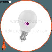 ELM Лампа светодиодная шар PA11 4W E14 4000K алюмопласт. корп. 18-0016