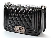 Женская кожаная сумка клатч Chanel Отличное качество