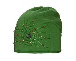 Детский комплект для девочки (шапка и снуд) Бусинка цвета в ассортименте