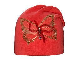 Детский комплект для девочки (шапка и снуд) Бабочка цвета в ассортименте