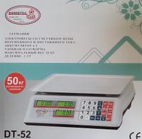 ТОРГОВЫЕ ВЕСЫ Domotec + DT 52 (6 v) 50 kg