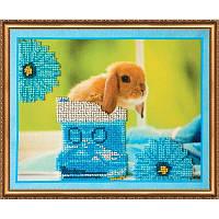 Набор для вышивки бисером на холсте «Кролики3»