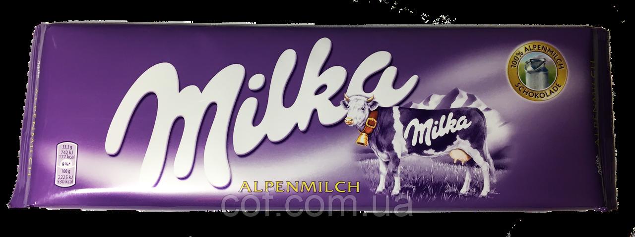 Шоколад молочный Milka Alpine Milk (Милка Альпийское Молоко) 300г (Швейцария)