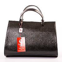 """Красивая черная женская сумка """"Черная змея"""" art. 1341dark"""