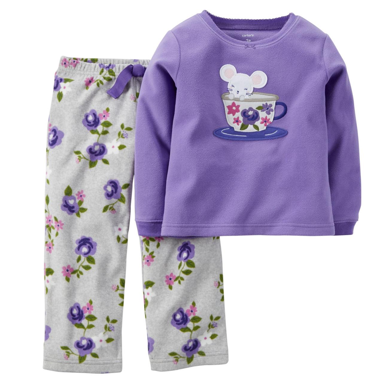 Флисовая пижамка Carters для девочки Мышонок