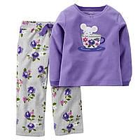 Флисовая пижамка Carters для девочки Мышонок , Размер 3T, Размер 3T