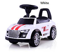 Детская  машинка каталка Sporty Ride-On Racer белая Milly Mally  Польша
