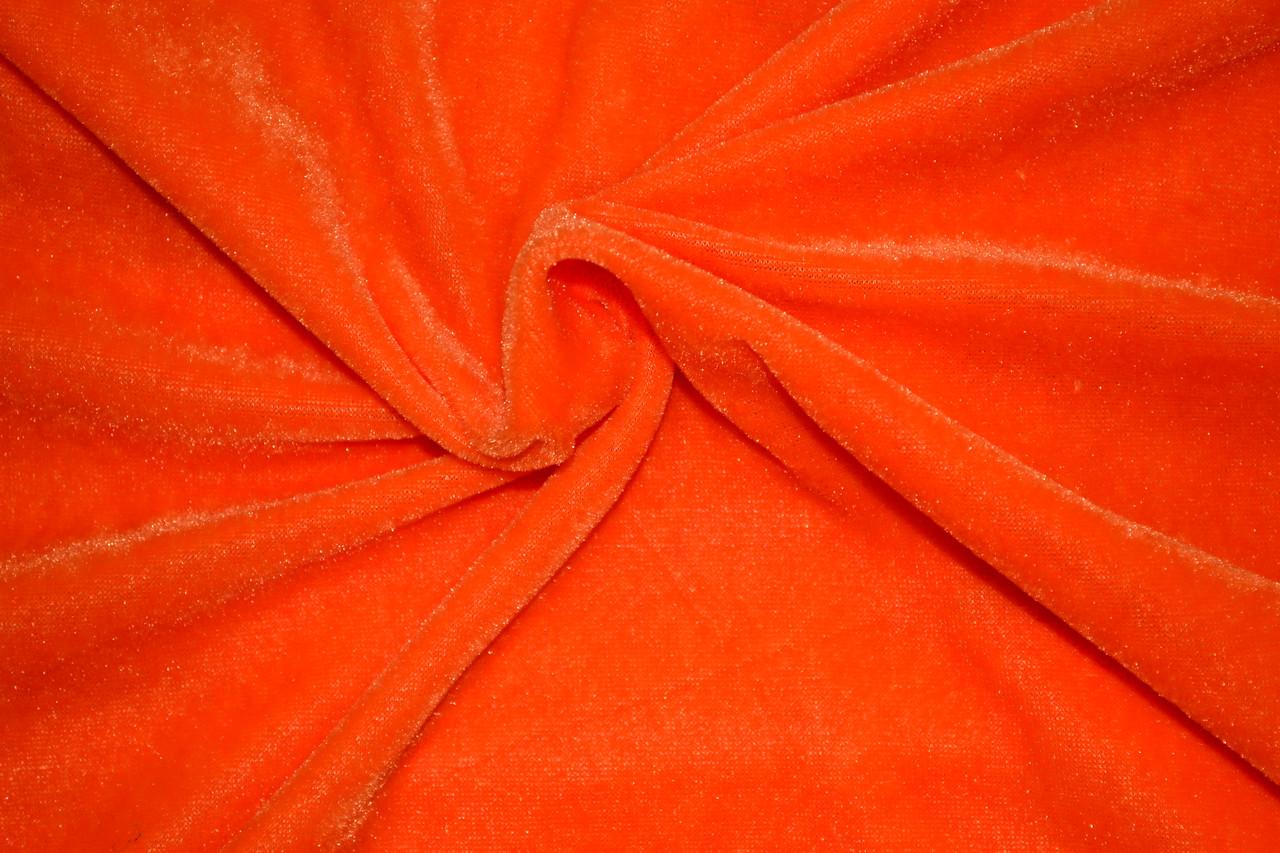 Велюр оранжевый